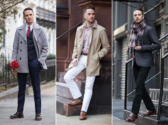he spoke style blogger jacket dress shirt scarf