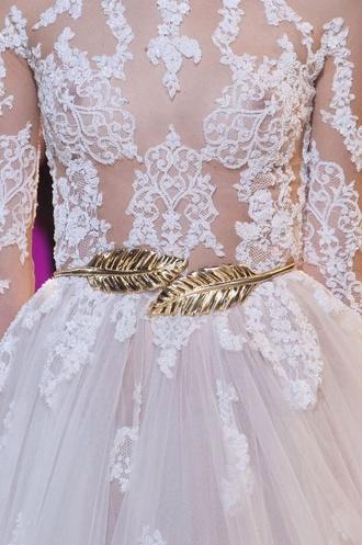 dress belt wedding dress wedding accessories elie saab see through dress
