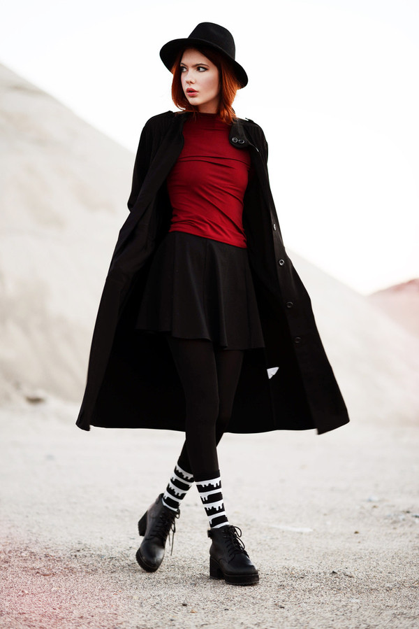 ebba zingmark t-shirt coat hat skirt shoes