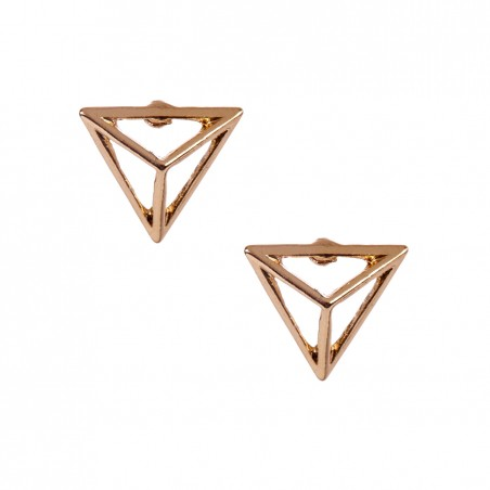 Sole Society - Cutout Pyramid Stud Earring - Gold
