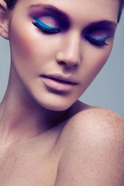 make-up blue and light purple
