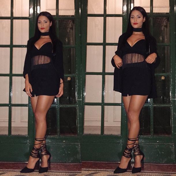 dress black dress heels cute dress cute outfits