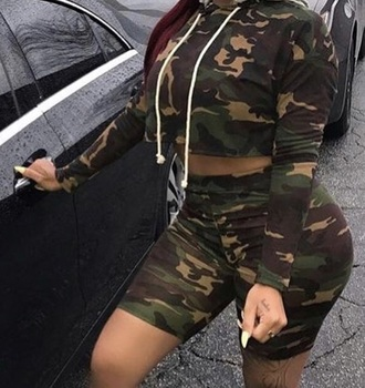 sweater green camouflage camouflage