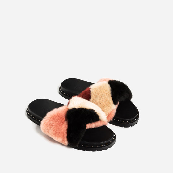 aaef8ea06ce FAUX FUR SLIDES - SHOES-WOMAN-COLLECTION AW16