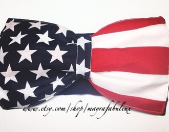 shirt tank top crop tops bow bowtop fashion american flag apparel red blue