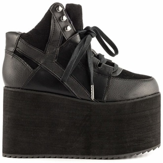shoes platform boots gothic shoes black shoes cute platforms