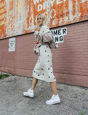 dress,tumblr,embellished,embellished dress,eyelet detail,eyelet dress,midi dress,knitwear,knitted dress,white dress,long sleeves,midi knit dress,white knit dress,sneakers,high top sneakers,white sneakers,high top converse,converse,white converse,cardigan