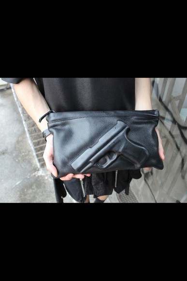 bag black bag clutch leather bag