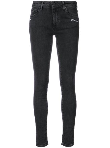 Off-White jeans women fit cotton black