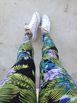 pants leggings tropical print leggings tropical tropical pants tropical patten