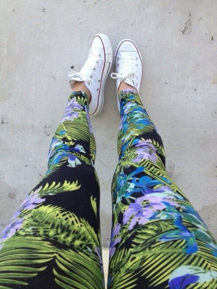tropical tropical print leggings pants leggings tropical pants tropical patten