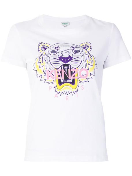 Kenzo t-shirt shirt t-shirt women tiger white cotton top