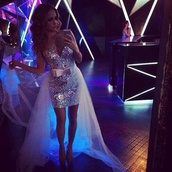 dress,silver,sequins,long dress,short dress,grad dress,sparkle,jewels,prom dress,sparkly dress,high low prom dresses