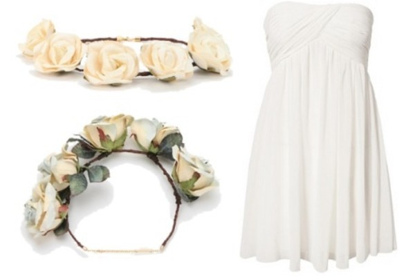jewels white rose dress