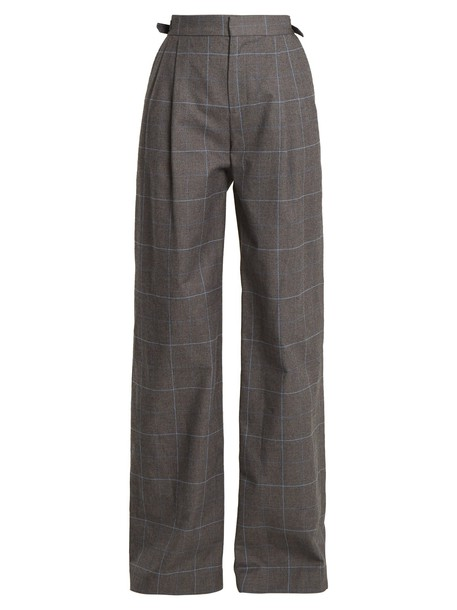 Attico cotton grey pants
