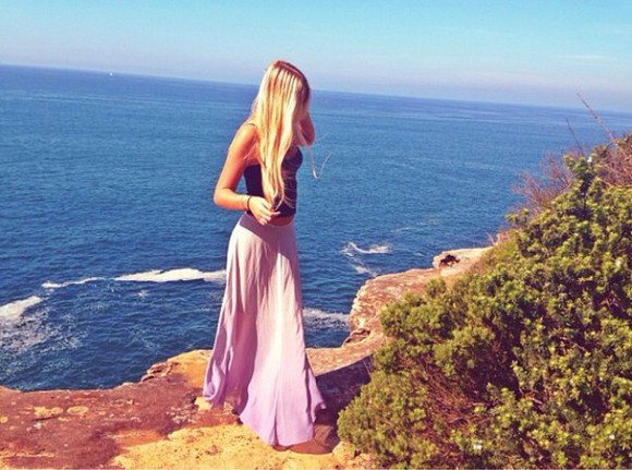 maxi skirt maxi skirt long dress summer outfits purple dress cute popular page