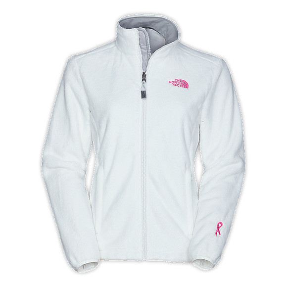 pink ribbon pink jacket north face