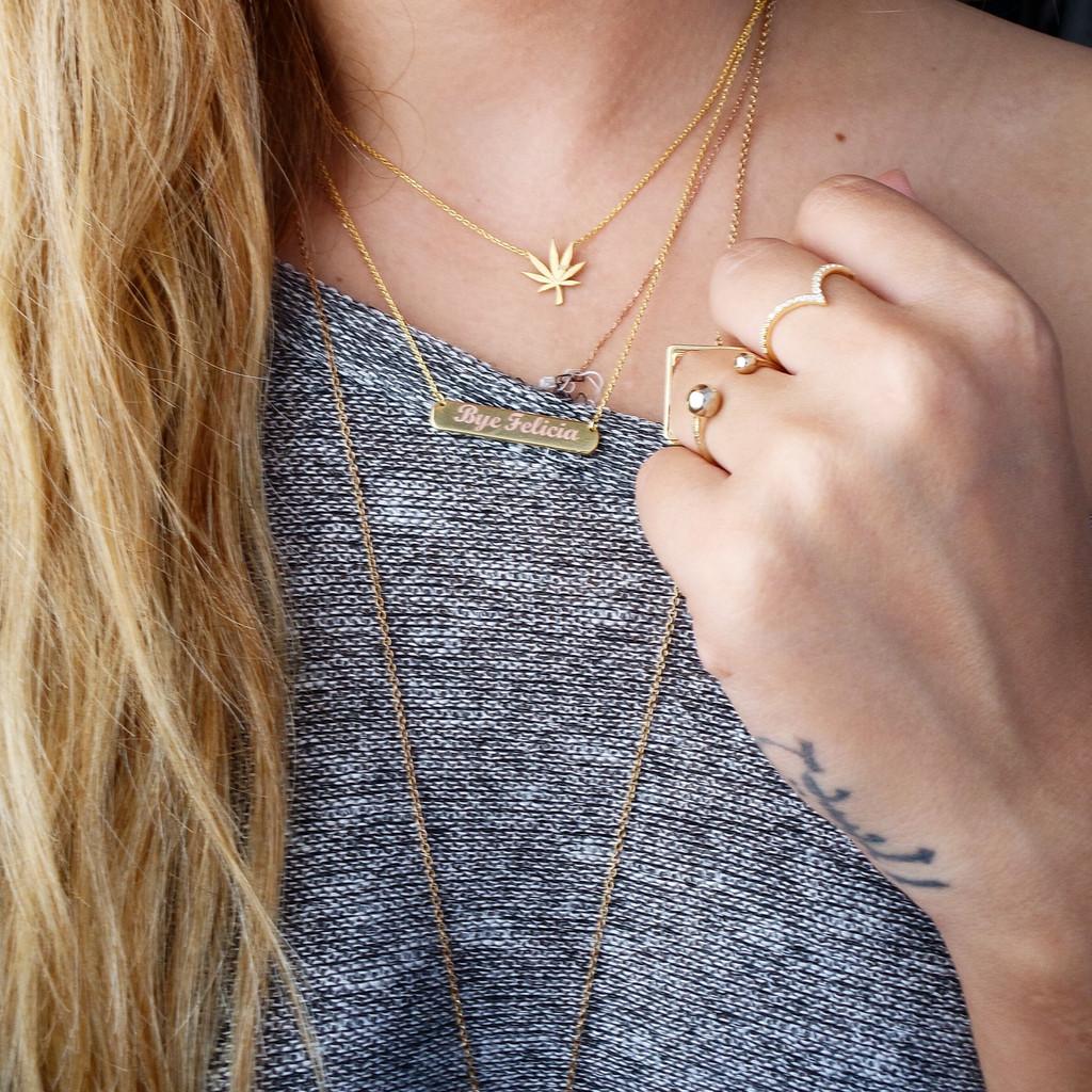 Custom Engraved Monochrome Necklace