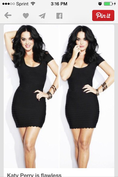 dress katy perry black sexy