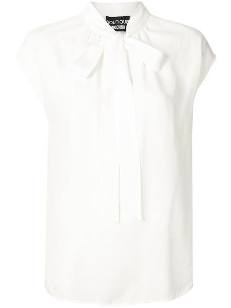 BOUTIQUE MOSCHINO top women white silk