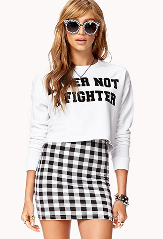 Lover Cropped Sweatshirt   FOREVER21 - 2078853790