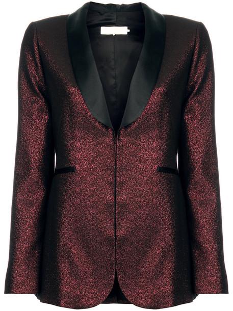 L'Autre Chose blazer women cotton red jacket