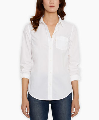 Levi's Tailored One Pocket Shirt - White - Blouses & Shirts