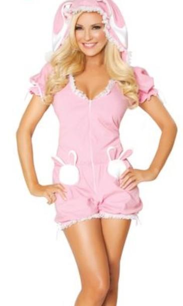 jumpsuit pink playboy pastel pajamas pajamas bunny bunnies bridget marquardt girls next door