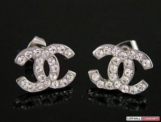 jewels chanel logo earrings
