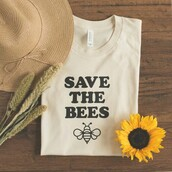 top,shirt,white t-shirt,quote on it,help save bees