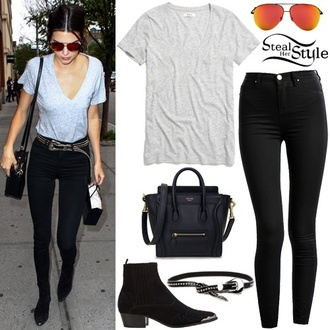 jeans black jeans boots kendall jenner jeggings pants