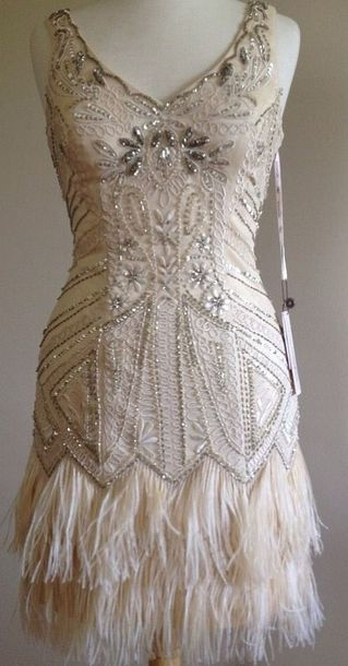 dress sue wong 1920s gatsby daisy buchanan flapper feathers pink crystal sequins  fringes art deco 20s 6baff9b18bc1