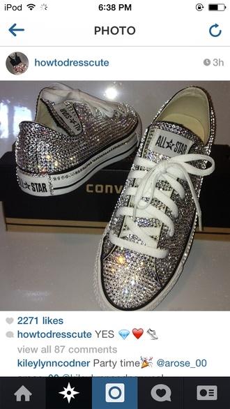 shoes all star instagram glitter