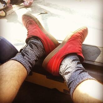 shoes vans marijuana socks