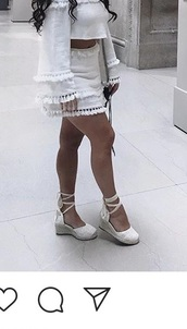 shoes,white,white shoes,cute,lace up,pointed toe