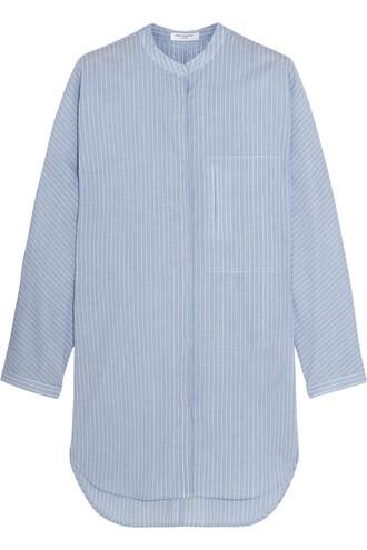 tunic cotton blue top
