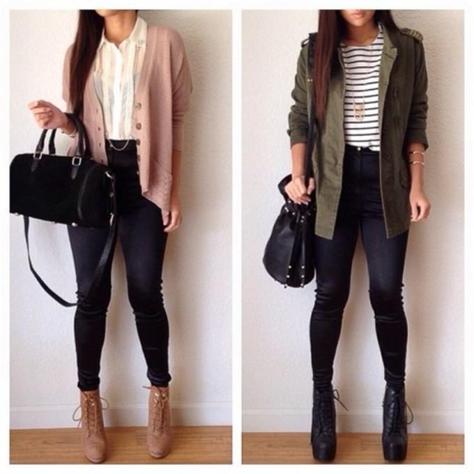Что можно носить с черными джинсами