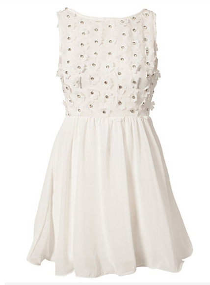 white dress cream halona tfnc flower dress