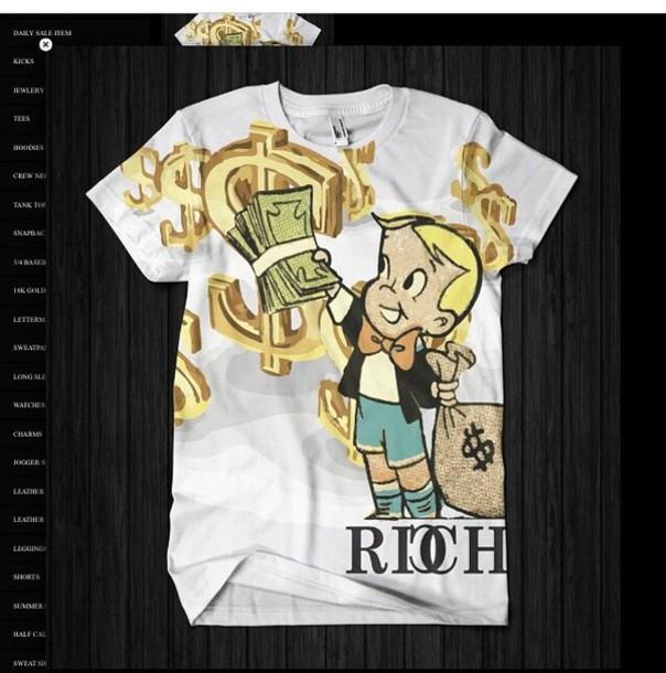 Money Sign t Shirt T-shirt Richie Rich Life Money