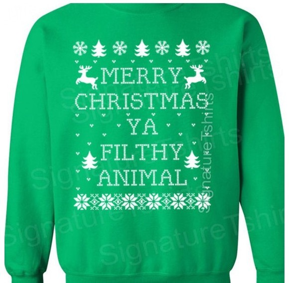sweater green sweater ugly christmas sweater christmas home alone