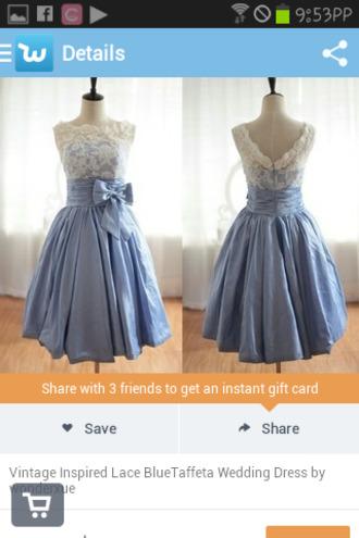 dress cute wedding dress bows lace light blue blue dress