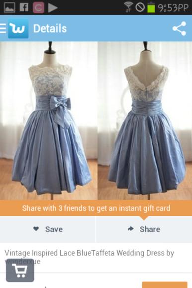 dress wedding dress cute lace cute dress bow light blue blue dress