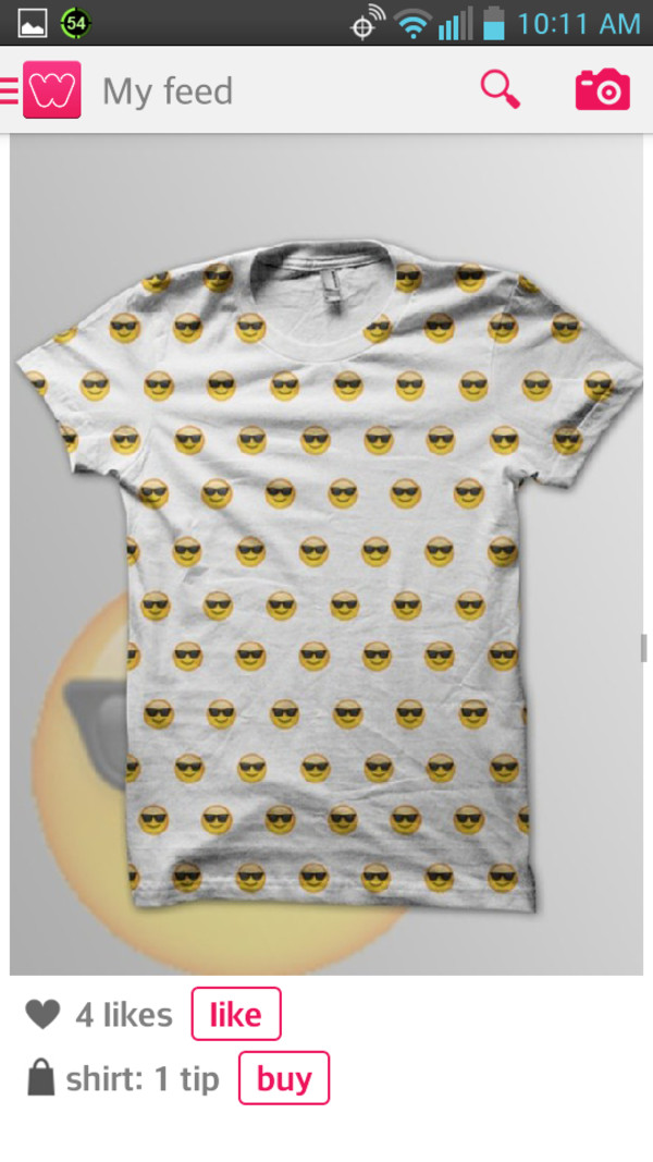 shirt smiley emolji t-shirt