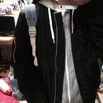 jacket black black jacket bomber jacket