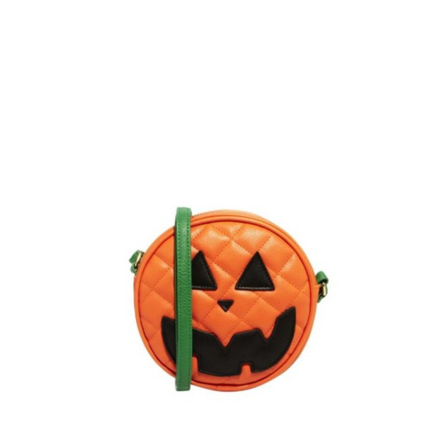 bag pumpkin jack o lantern orange halloween purse clutch handbag seasonal whimsical asos fall outfits green - Halloween Handbag