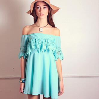 dress floral lace floral dress summer dress bohemian dress