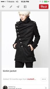 coat,black,wool,jacket,blazer,asymmetrical