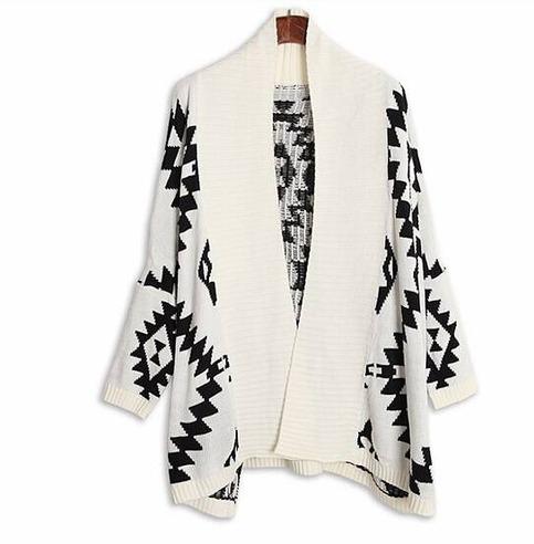 Aztec knit cardigan from doublelw on storenvy