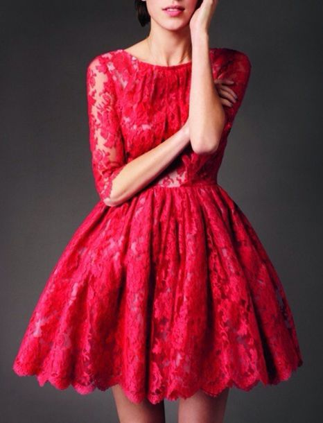 christmas party dresses red - photo #27