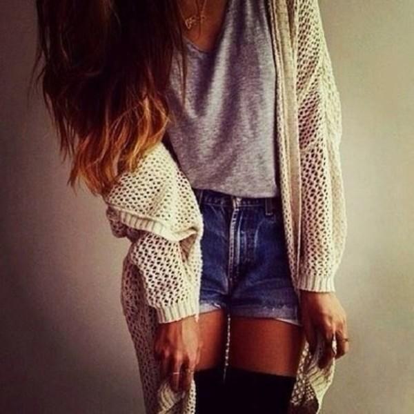 blouse t-shirt shorts